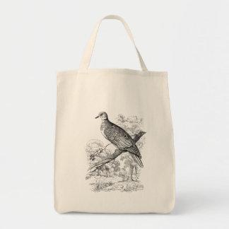 ヴィンテージの19世紀のカメの鳩の鳥の鳩ハト鳥 トートバッグ