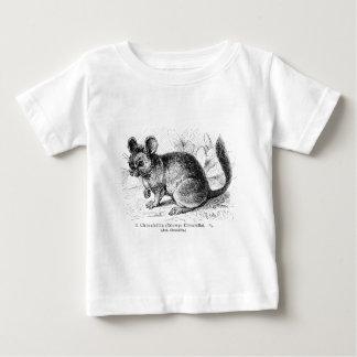 ヴィンテージの19世紀のチンチラのチンチラのイラストレーション ベビーTシャツ