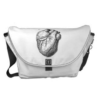 ヴィンテージの19世紀のハートのレトロの心臓解剖学のハート クーリエバッグ
