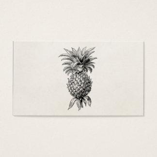 ヴィンテージの19世紀のパイナップルイラストレーションのパイナップル 名刺