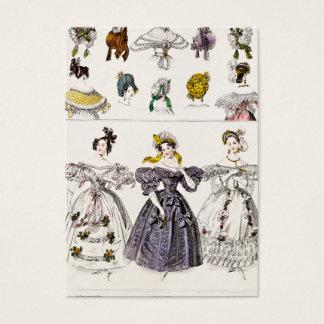 ヴィンテージの19世紀のパリのファッション-フランス人の服及び帽子 名刺