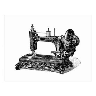 ヴィンテージの19世紀のミシンのイラストレーション ポストカード