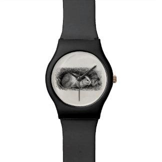 ヴィンテージの19世紀のモルモットのイラストレーションのレトロのCavies 腕時計