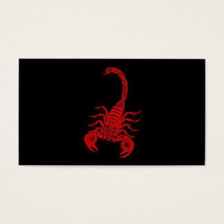 ヴィンテージの19世紀の蠍のイラストレーションの赤の蠍 名刺