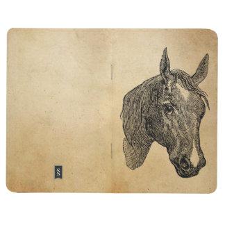 ヴィンテージの19世紀の馬頭部の絵のレトロの馬 ポケットジャーナル
