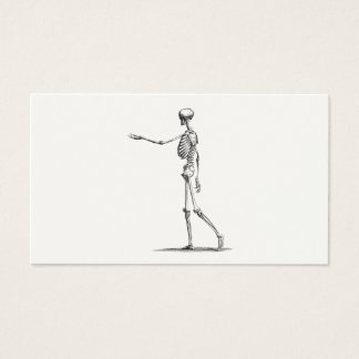 ヴィンテージの19世紀の骨組旧式な解剖学の骨組 名刺