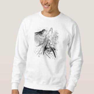 ヴィンテージの19世紀は古いCoquetteの鳥のレトロの鳥を房状にしていました スウェットシャツ