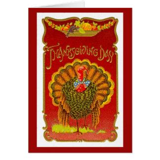 ヴィンテージの1908年の感謝祭の挨拶状 カード