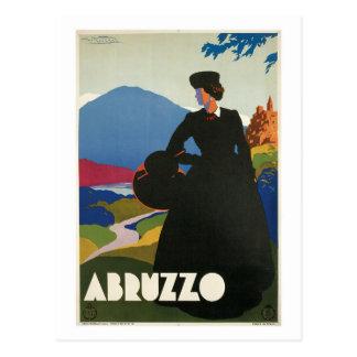 ヴィンテージの1930年のアブルッツォイタリアンな旅行広告 ポストカード