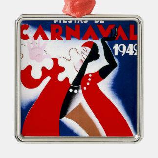 ヴィンテージの1942年のモンテビデオのカーニバルポスター メタルオーナメント