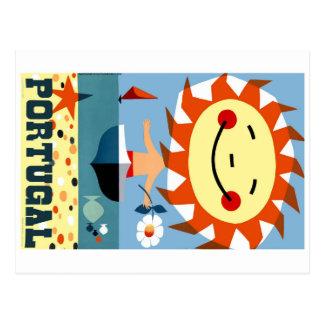 ヴィンテージの1959年のポルトガルの海岸旅行ポスター ポストカード