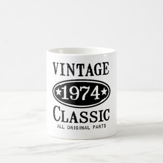 ヴィンテージの1974年のクラシックのギフト コーヒーマグカップ