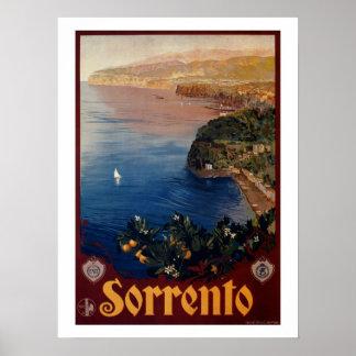 ヴィンテージの20年代のソレントのイタリアンな旅行 ポスター