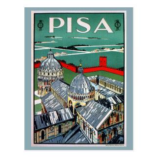 ヴィンテージの20年代のピサのイタリアンな旅行 ポストカード