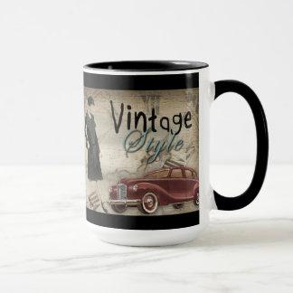 ヴィンテージの20年代の30年代のファッションのマグ マグカップ