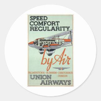 ヴィンテージの30年代航空会社 ラウンドシール