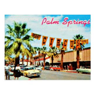 ヴィンテージの50年代のパーム・スプリングスの郵便はがき ポストカード