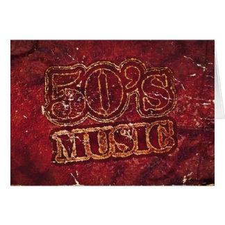 ヴィンテージの50年代音楽-挨拶状 カード