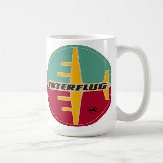 ヴィンテージの60年代のInterflug Ailinesのロゴのマグ コーヒーマグカップ