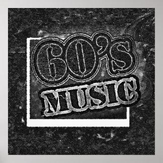 ヴィンテージの60年代音楽-ポスター ポスター