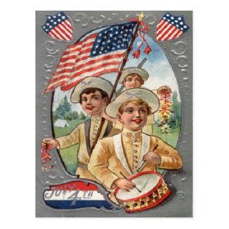 ヴィンテージの7月4日のお祝い ポストカード