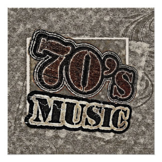 ヴィンテージの70年代音楽-ポスター ポスター