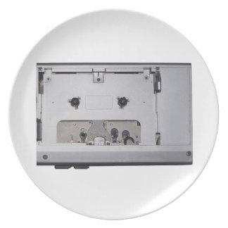 ヴィンテージの80年代のカセットプレーヤー ディナー皿