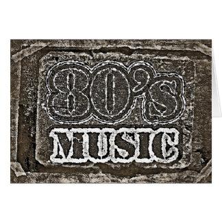 ヴィンテージの80年代音楽-挨拶状 カード