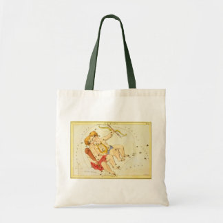 ヴィンテージの(占星術の)十二宮図の占星術のジェミニ対の星座 トートバッグ
