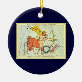 ヴィンテージの(占星術の)十二宮図の占星術の射手座の星座 セラミックオーナメント