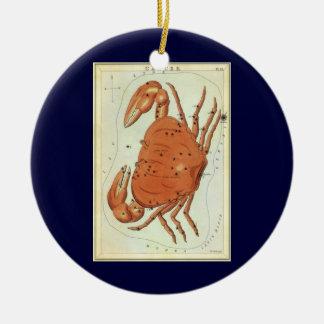 ヴィンテージの(占星術の)十二宮図の占星術の蟹座のカニの星座 セラミックオーナメント