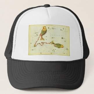 ヴィンテージの(占星術の)十二宮図の占星術の魚類の魚の星座 キャップ
