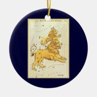 ヴィンテージの(占星術の)十二宮図、占星術のレオのライオンの星座 セラミックオーナメント