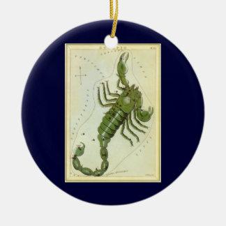 ヴィンテージの(占星術の)十二宮図、占星術の蠍座の星座 陶器製丸型オーナメント