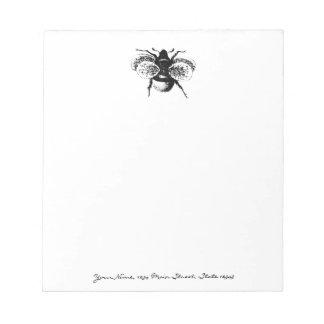 ヴィンテージの《昆虫》マルハナバチ ノートパッド