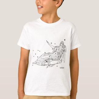 ヴィンテージの《星座》乙女座 Tシャツ