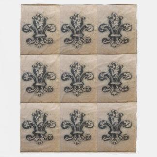 ヴィンテージの(紋章の)フラ・ダ・リのフランス人の刺激を受けたな毛布 フリースブランケット