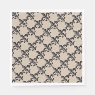 ヴィンテージの(紋章の)フラ・ダ・リのプリントのナプキン スタンダードランチョンナプキン
