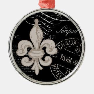 ヴィンテージの(紋章の)フラ・ダ・リの…オーナメント メタルオーナメント