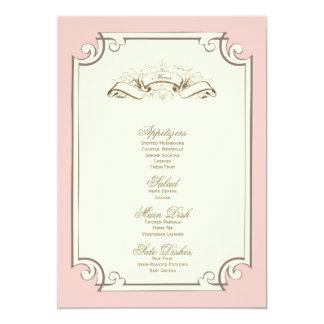 {ヴィンテージの}結婚式メニュー 12.7 X 17.8 インビテーションカード