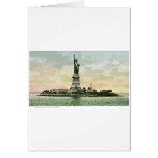 """ヴィンテージの""""自由の女神""""ポスター。 ニューヨーク。 カード"""