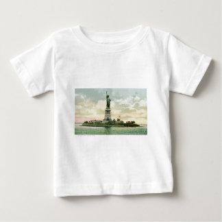 """ヴィンテージの""""自由の女神""""ポスター。 ニューヨーク。 ベビーTシャツ"""