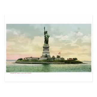 """ヴィンテージの""""自由の女神""""ポスター。 ニューヨーク。 ポストカード"""