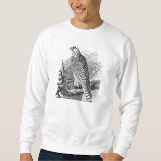 ヴィンテージの《鳥》ハヤブサの鳥-鳥のテンプレートのブランク スウェットシャツ