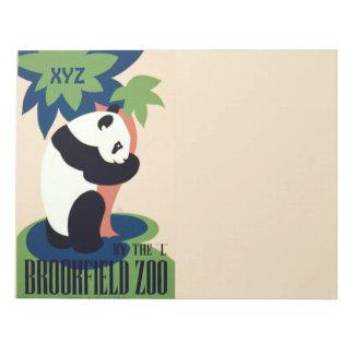 """ヴィンテージの""""Brookfieldの動物園""""のカスタムなモノグラムのメモ帳 ノートパッド"""
