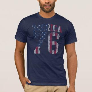 ヴィンテージの「Mericaの旗米国東部標準時刻。 1776年 Tシャツ