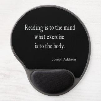 ヴィンテージのAddisonの読書心の感動的な引用文 ジェルマウスパッド