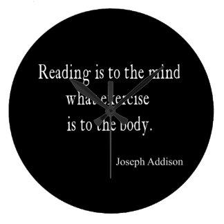 ヴィンテージのAddisonの読書心の感動的な引用文 ラージ壁時計