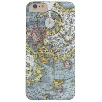 ヴィンテージのApianハート形の旧式な世界地図ピーター Barely There iPhone 6 Plus ケース