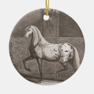 ヴィンテージのAppalooseの馬 セラミックオーナメント